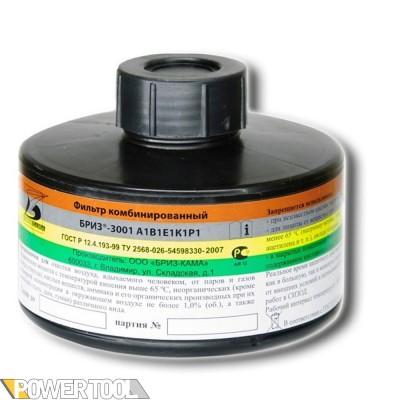 Фильтр для противогаза комбинированный Бриз-3001 А1B1E1K1P1D