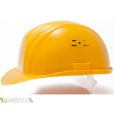 Защитная каска строителя желтая