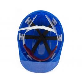 Защитная каска строителя синяя