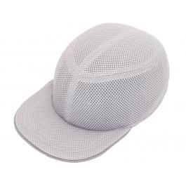 Каска-бейсболка ударопрочная со светоотражающей лентой (цвет серый)