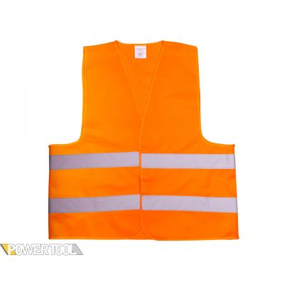 Жилет сигнальный светоотражающий оранжевый 80г/м2