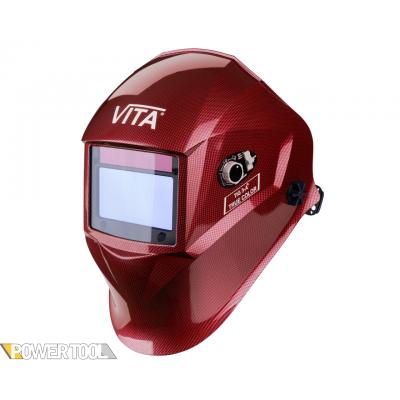 Сварочная маска TIG 3-A TrueColor красные металлические соты