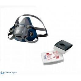 Респиратор полумаска 3м 6500QL с фильтрами 6035