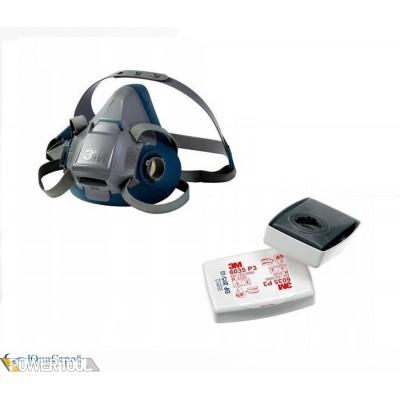 Респиратор полумаска 3М 6200 с фильтрами 6057