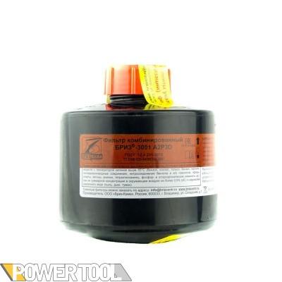 Фильтр для противогаза Бриз ДОТ 3001-А2P3D пары и газы