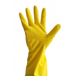Защитные перчатки хозяйственные латексные