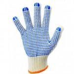 Перчатки рабочие с точкой ПВХ трикотажные